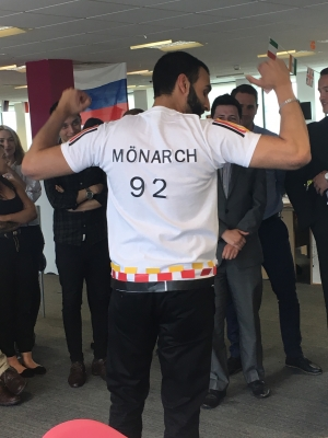 World Cup Fever hits Monarch HQ